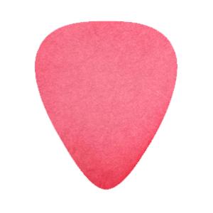 Delrin Plektrum - Röd