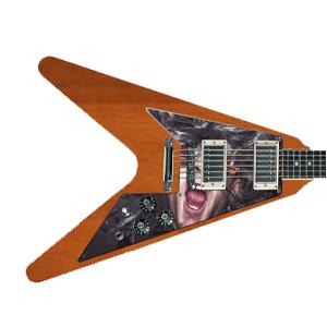 Gitarr Pickguard - Tryck på - Flying V
